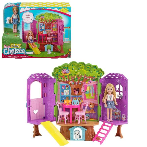 Barbie Club Chelsea Treehouse Playset Includes Chelsea Toy Figure